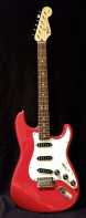 Fender - Stratocaster Squier Series Red München Los Angeles Equipment Rental