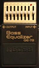 Boss GE-7B Bass Equalizer Rental Vermietung Gitarre Verstärker Bass